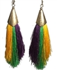 Thin Tassel Mardi Gras Earrings