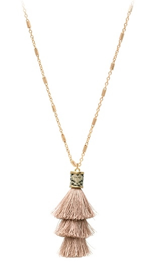 Snake Duster Tassel Necklace