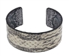 Leather Snake Cuff Bangle