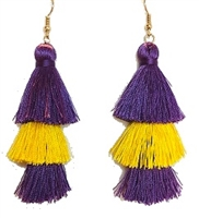 Purple & Gold Duster Earring