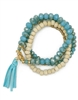 Stretch Bracelet W/ Tassel