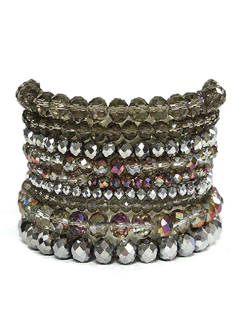 9 Piece Stone Stretch Bracelet