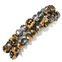 2 Piece Stone Stretch Bracelet