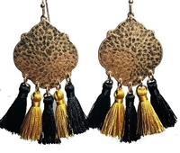 Hammered Black & Gold Earring