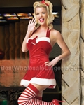 L83125X - Plus size Santa's Little Helper Dress