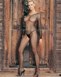 Seamless long sleeved ring net bodystocking
