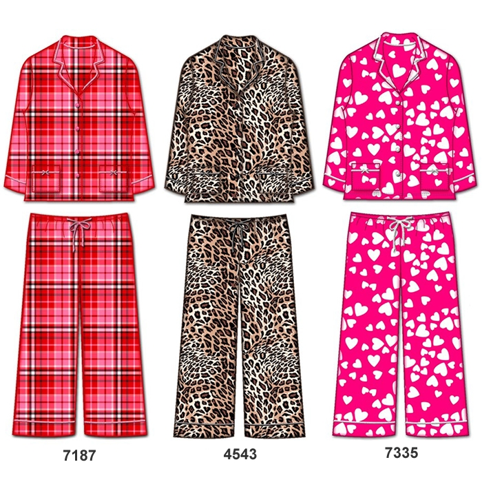 fbecd16b56 Wholesale Micro fleece long sleeve pajama set with lurex thread details
