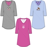 Plus size cotton sleep shirts with embroidery wording