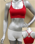 Wholesale Cross back Seamless bra with adjustable straps