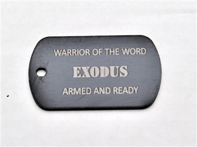 Exodus Warrior of the Word Dog Tag