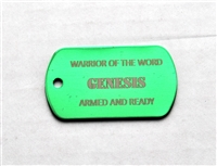 Genesis Warrior of the Word Dog Tag