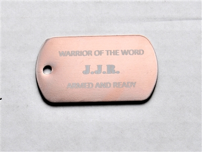 JJR Warrior of the Word Dog Tag