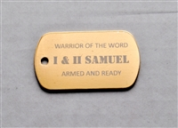 I & II Samuel Warrior of the Word Dog Tag