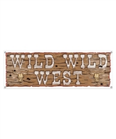 Yee Haw VBS Wild West Plastic Banner. 5 ft. Save 50%.