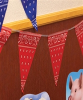 Yee Haw VBS Red Bandanna Pennant. Save 50%.