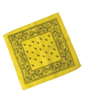 Yee-Haw VBS Yellow Bandannas. Package of 12. Save 50%.