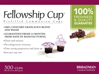 Fellowship Cup PreFilled Communion Cups (500 Count). Save 15%. TEMPORARILY OUT OF STOCK