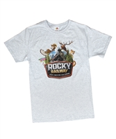 Theme T-shirt- Adult (Sm 34-36) -Rocky Railway VBS