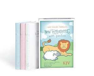KJV Baby's New Testament w/Psalms-White Imitation Leather. Save 30%.