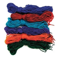 Tipped Yarn Laces. Package of 72.