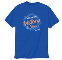In Jesus Victory is Won! Mighty Fortress Crown T-Shirt Adult XLarge. Not returnable. SAVE 50%.