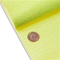 "Premium Colored Crepe Paper. Limon. 19"" x 98"". Save 50%."