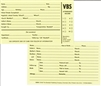 "VBS Attendance Record Cards. 3""x5"". Pack of 50. Generic.  SAVE 50%."