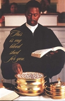 African American Communion Bulletins (pkg.100).  Save 50%.