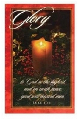 Pkg./100. Christmas Glory Bulletins. Save 50%.