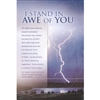 Stand in Awe Bulletins (pkg.100).  Save 50%.