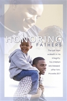 African American Honoring Fathers Bulletins (pkg.100). Save 50%.