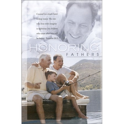 Honoring Fathers Bulletins (pkg.100).  Save 50%.