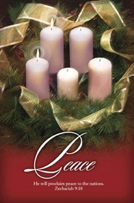 Advent Week 2 Christmas Bulletins (pkg.100).  Save 50%.