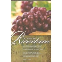 In Remembrance Communion Bulletins (pkg.100).  Save 50%.