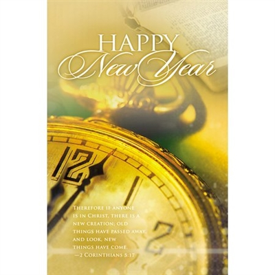 New Creation New Years Bulletins (pkg.100).  Save 50%.