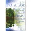 Praise God Doxology Bulletins (pkg.100).  Save 50%.