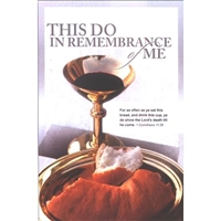 "This Do In Remembrance of Me Communion Bulletins. Large (8 1/2""x14"") (pkg.100).  Save 50%."