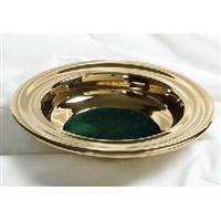 RemembranceWare Offer Plate. Silvertone or Brasstone with Red or Green Pad. Save 20%.