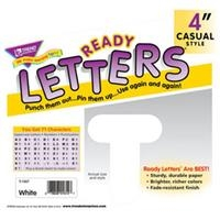Four Inch Ready Letters-White.  Save 5%.