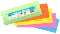 Word Strips - Multicolored. Pkg. of 75.  Save 5%.
