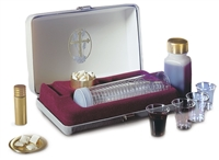 Portable Communion Set.  Deluxe Set with Oil Stock.  RW28 by Artistic.