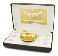 Six Cup Portable Communion Set Last Supper Lining. RW29 By Artistic.