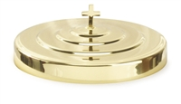 Artistic Communion Tray Cover. Brasstone, Silvertone, or Polished Aluminum. RW501. Save 20%.
