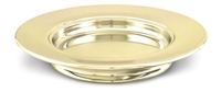Artistic Stacking Communion Bread Plate. Brasstone, Silvertone, or Polished Aluminum. RW504