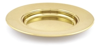 Artistic Non-Stacking Communion Bread Plate. Brasstone, Silvertone, or Polished Aluminum. RW505