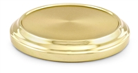 Artistic Stacking Bread Plate Base. Brasstone, Silvertone, or Polished Aluminum. RW507