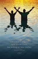 Men In Water Baptism Bulletins. Pkg./100. Save 50%.
