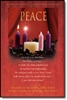 "Pkg./100 Peace Advent Bulletins. Large (8 1/2""x14"").  Save 50%."