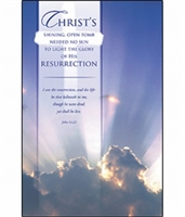 Pkg./100 Easter Bulletins-Christ's Resurrection.  Save 50%.