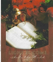 "Pkg./100 Light is Come Christmas Bulletins. Large (8 1/2""x14"")  Save 50%."